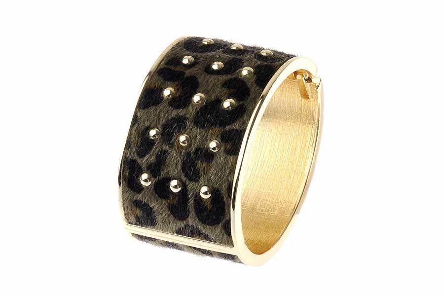 Leopard print cuff #bracelet