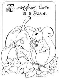 Changing Seasons Coloring Page | Fall coloring pages ...