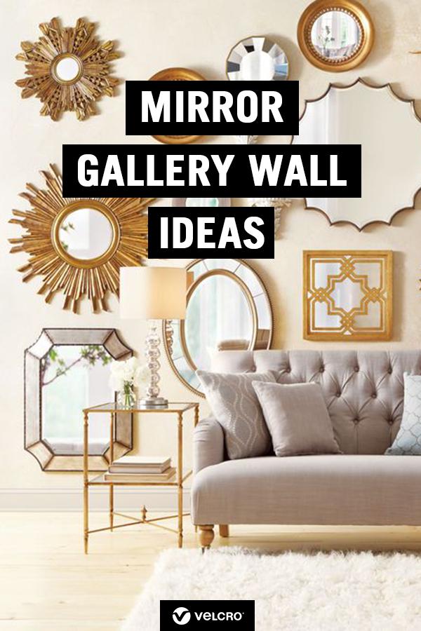 Mirror Gallery Wall Ideas Mirror Wall Living Room Mirror Gallery Wall Wall Mirror Decor Living Room