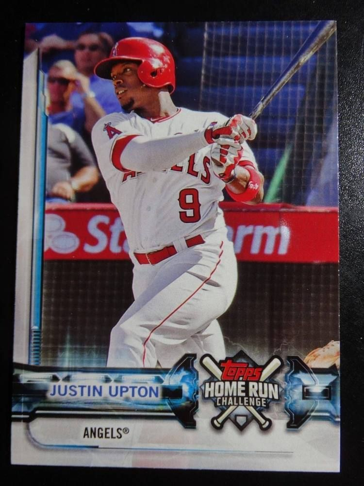 2018 Topps Series 1 Hrc Ju Justin Upton Angels Home Run