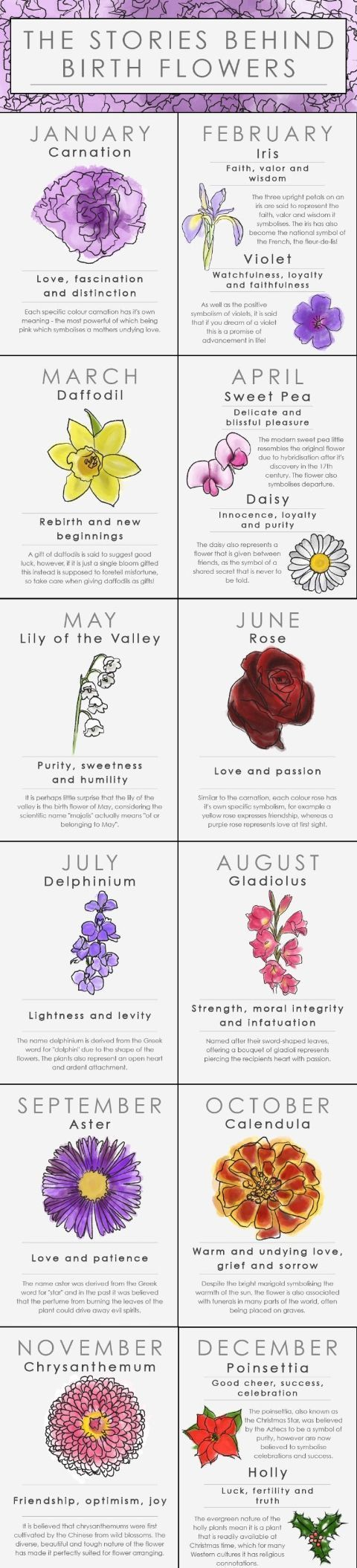 What Your Birth Flower Says About Your Personality Birth