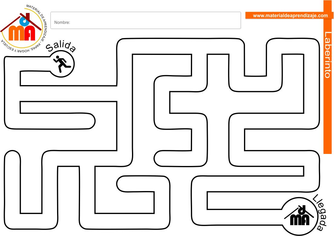 Laberinto para niños: Nivel fácil 12