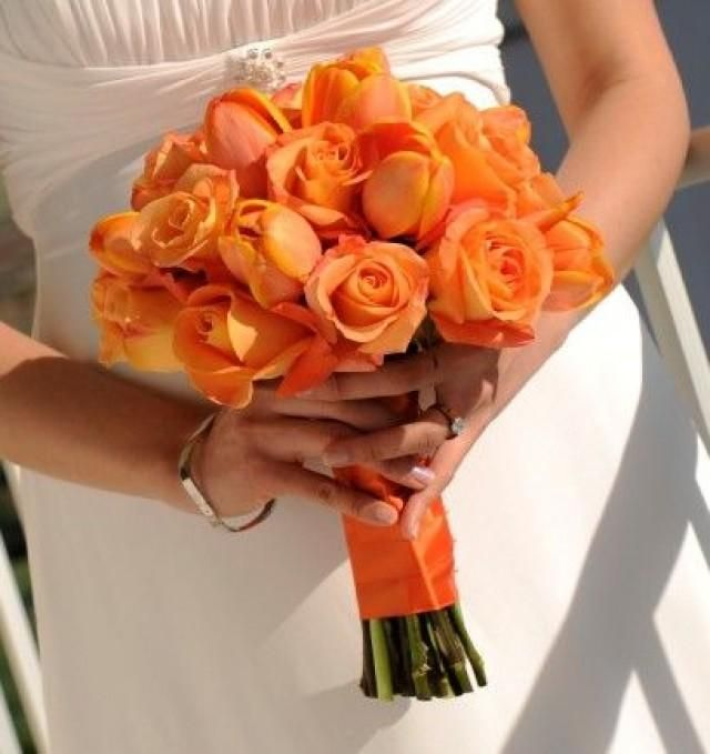 Bouquet Sposa Arancio.Arancione Matrimonio A Tema Orange Wedding Flowers