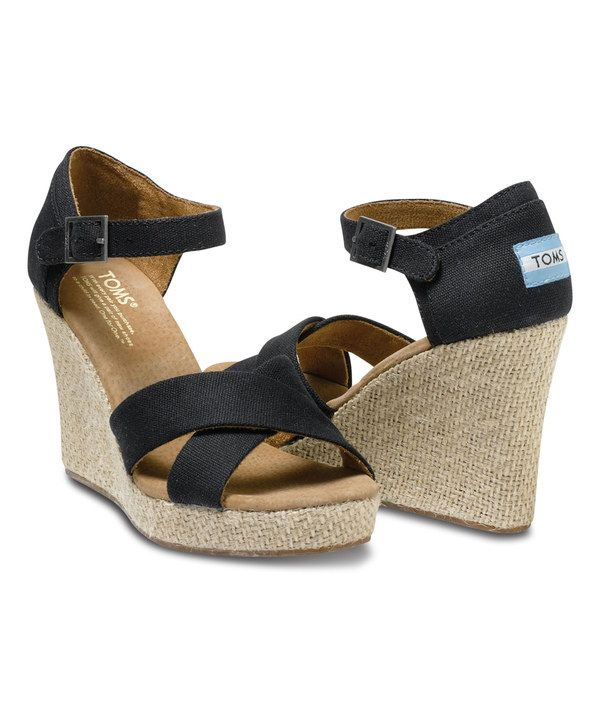 d694081869d Look at this TOMS Black Canvas Wedge on  zulily today!