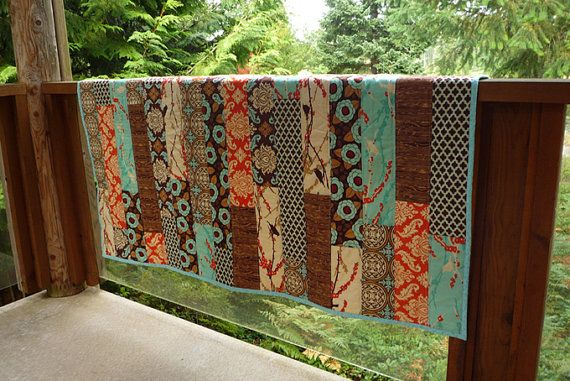 Easy Quilt Pattern PDF Wooden Deck Quilt FQ by BubbleStitch