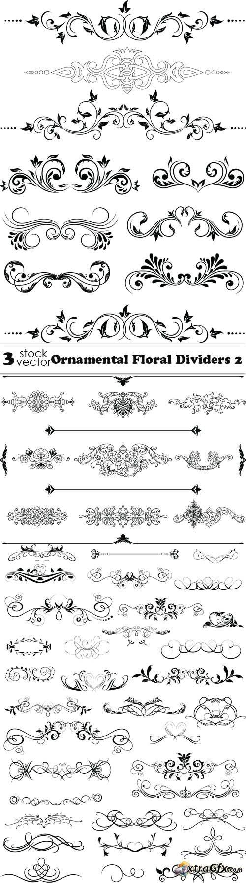 Vectors ornamental floral dividers calligraphy pinterest