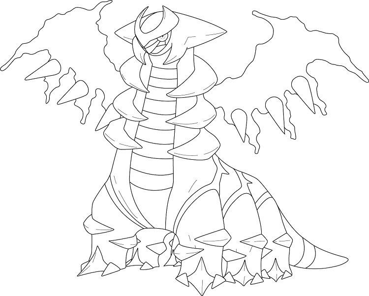 Pokemon Coloring Pages Giratina Pokemon Coloring Dinosaur