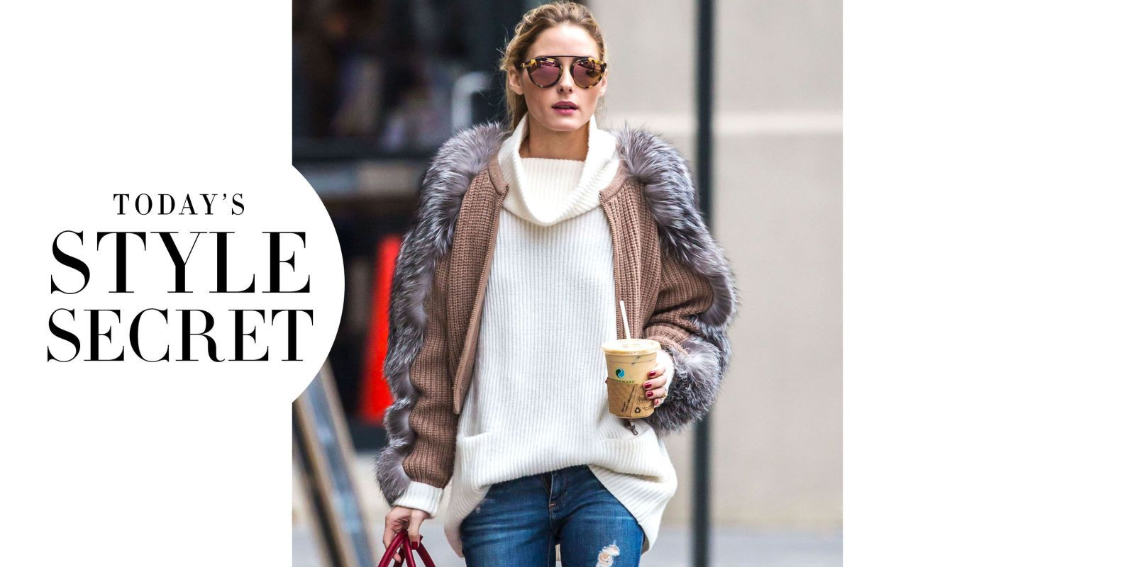 Today's Style Secret: Olivia Palermo's Mirrored Shades  - HarpersBAZAAR.com