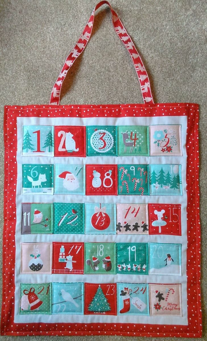 Sewn Advent Calendar Ideas : Sew your own advent calendar fabric