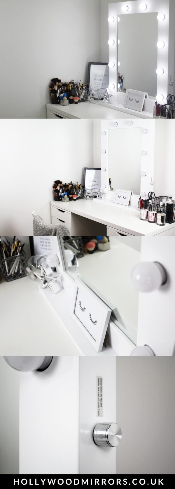 Diy vanity mirror with lights for bathroom and makeup station mozeypictures Image collections