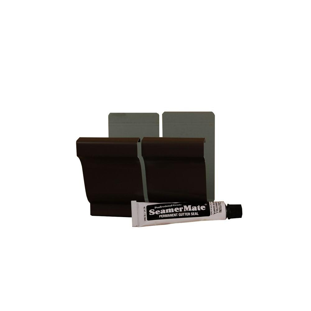 Amerimax Home Products 5 In Musket Brown Aluminum Seamers With Seamermate 2 Pack 25008059pk Brown Finish Roof Lines Home Depot