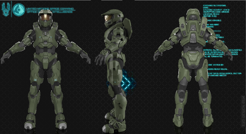 Halo 2 Anniversary Master Chief F M By Christopher