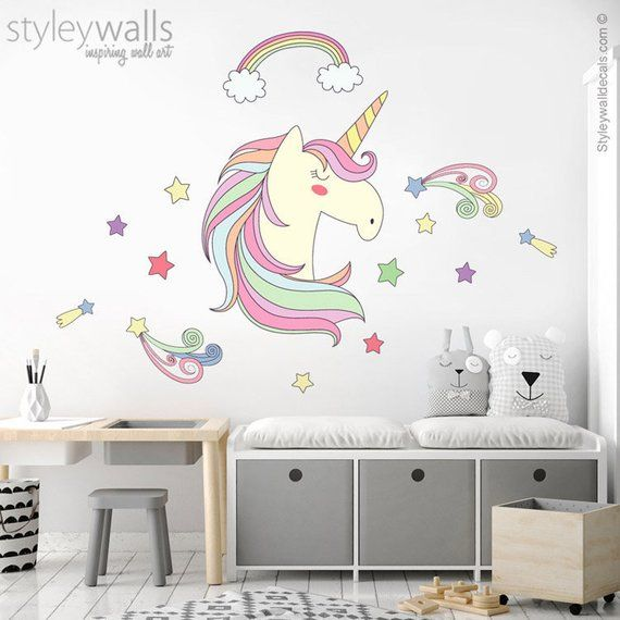 067c86f16d9 Unicorn Wall Decal