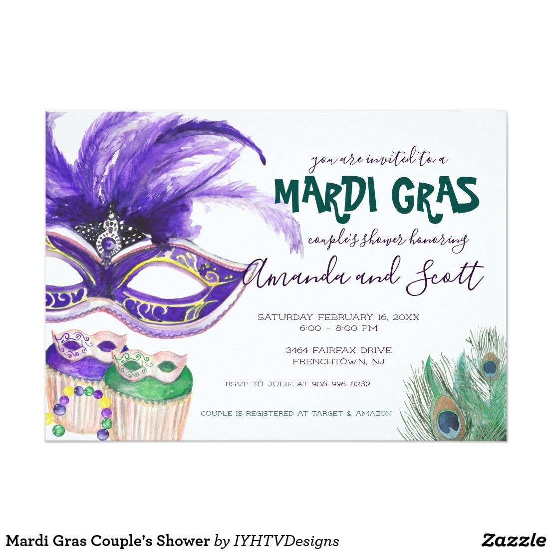 Mardi Gras Bridal Shower Wedding Shower By Classyyetsassyinvite 10 00 Bridal Shower Bridal Shower Decorations Diy Bridal Shower Centerpieces