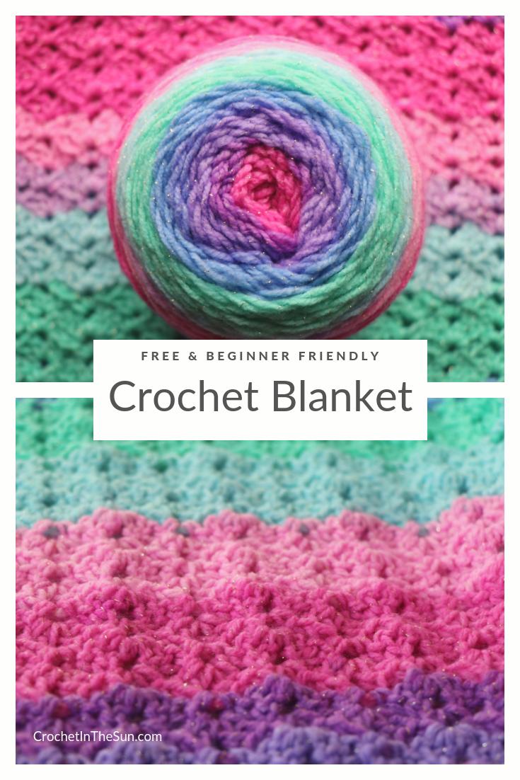 Crochet Blanket Pattern Free And Easy Used Lion Brand Mandala Sparkle Crochet Patterns Free Blanket Easy Crochet Blanket Crochet Blanket Pattern Easy