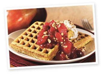 Hazelnut Harvest Waffle with  Cranberry Pear Sauce