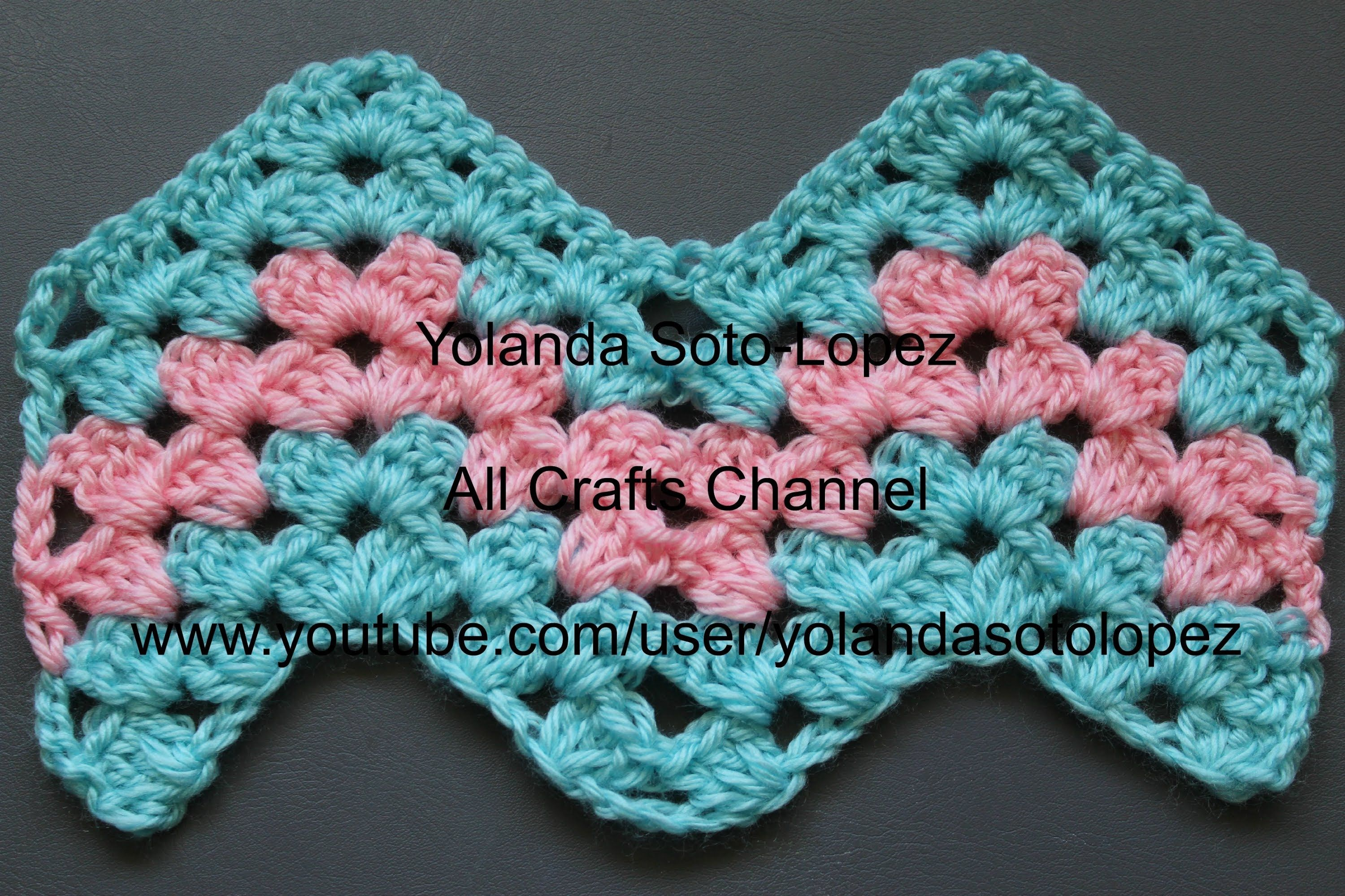 Crochet Granny Ripple Pattern | Crochet chevron | Pinterest ...