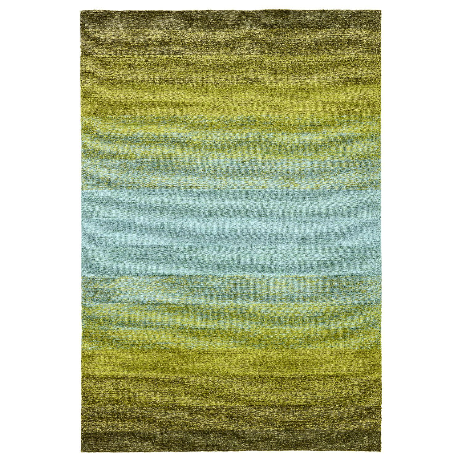 Ombre Lime Green Turquoise Area Rug