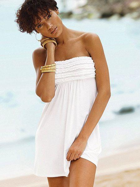 VICTORIA'S SECRET tunika COVER UP r L #6533 | Beach dresses