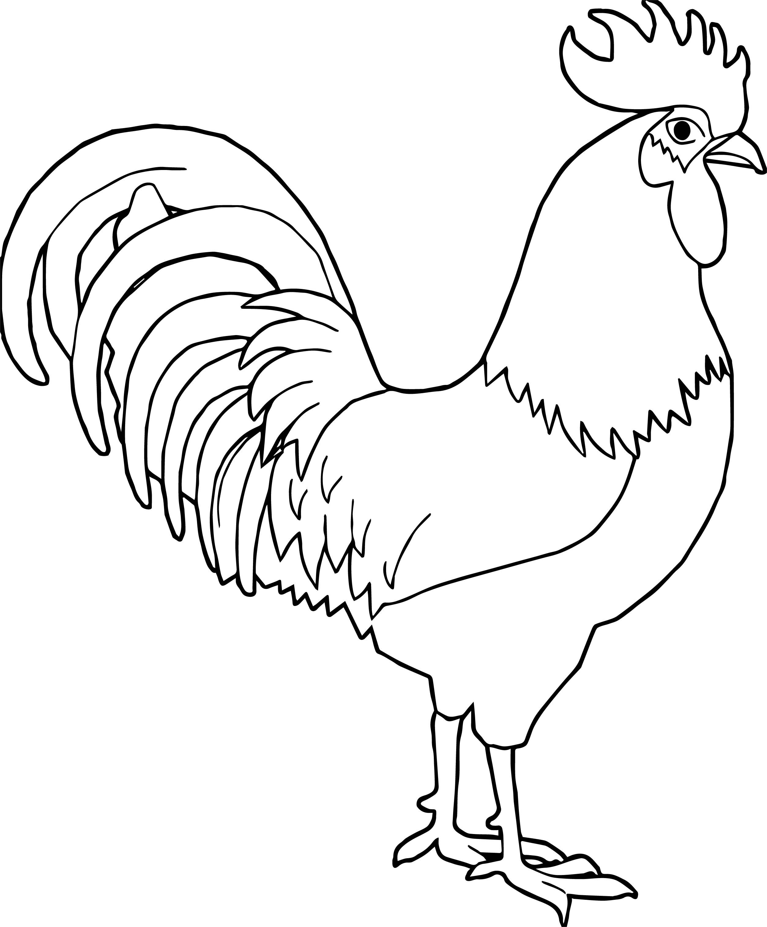 25 Brilliant Photo Of Rooster Coloring Page Rooster Rooster