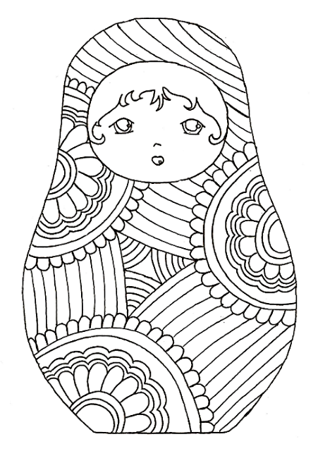Russische Puppen Seiten für Erwachsene Färbung Mandala Free ~ Free ...