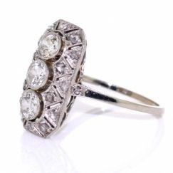 1.55ct Rare Diamond Antique Ring - 18ct White Gold - Farringdons Jewellery Hatton Garden London