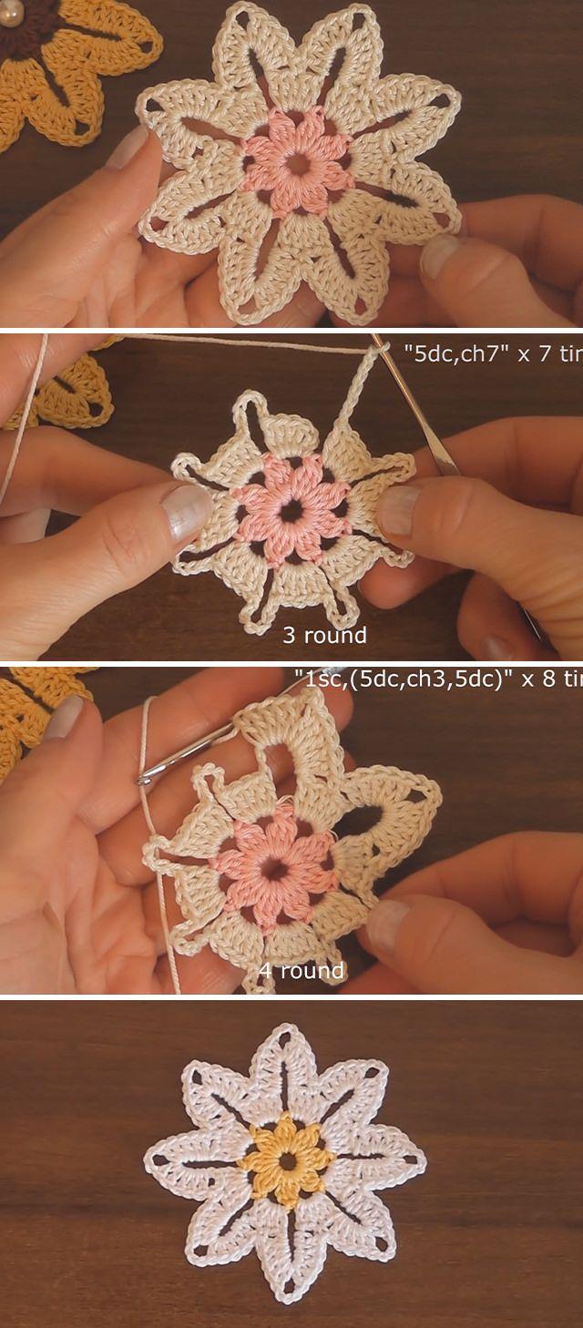 Easy Crochet Flower Pattern You Should Learn | CrochetBeja