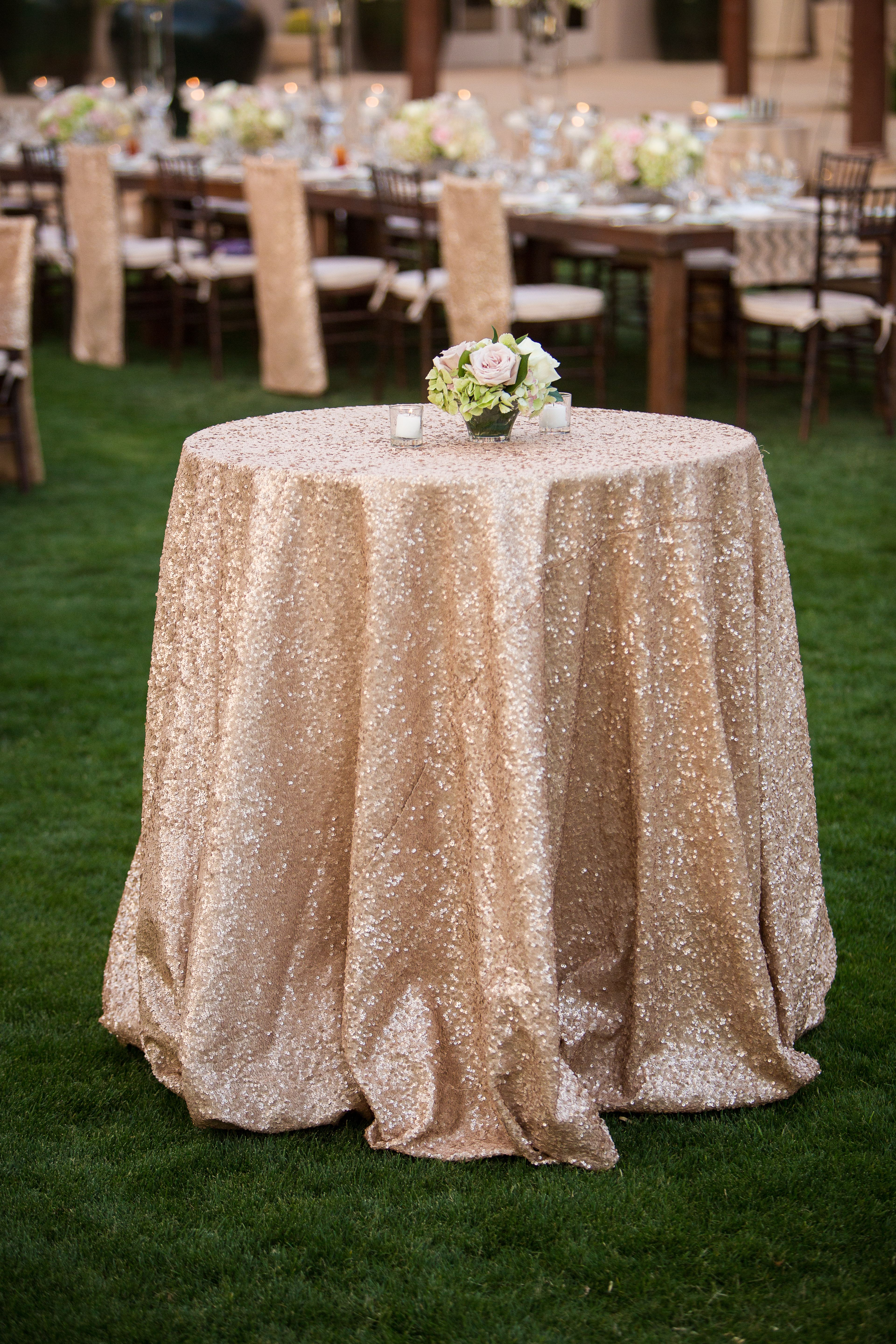 Cocktail Table Option Just An Idea Sequin Tablecloth Sequin