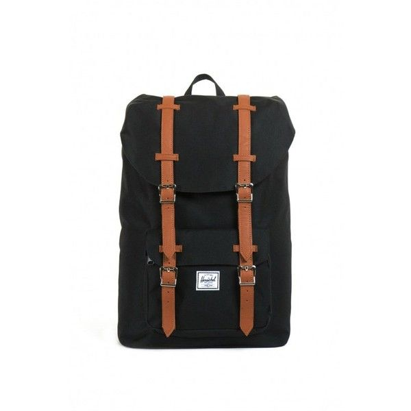 Herschel Supply Herschel Supply Little America Mid-Size Backpack in... ($85) ❤ liked on Polyvore featuring bags, backpacks, bags + wallets, pin bag, rucksack bag, herschel supply co backpack, metal backpack and pocket backpack
