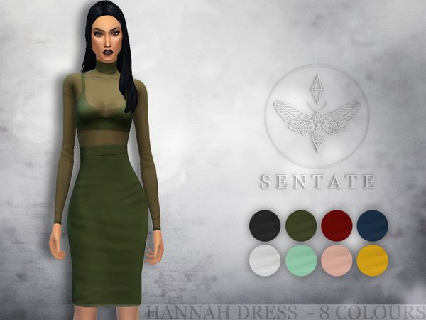 The Sims Resource: Hannah Dress by Sentate • Sims 4