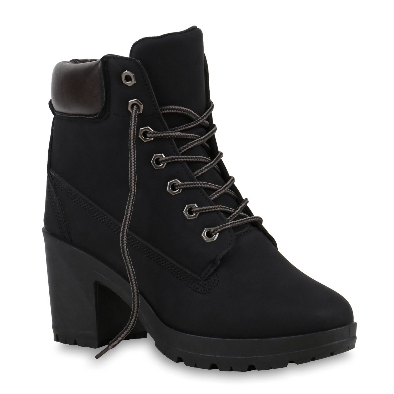 Damen Worker Boots Profil Sohle Block Absatz Stiefeletten 811964 Schuhe Damen Damenschuhe Timberland Schuhe Damen