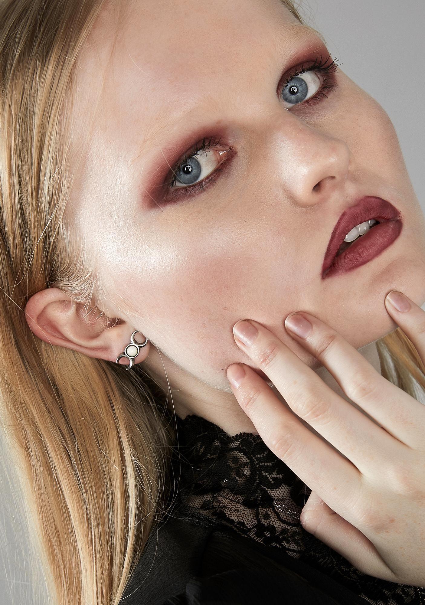 Triple Goddess Studs Triple goddess, Gothic earrings