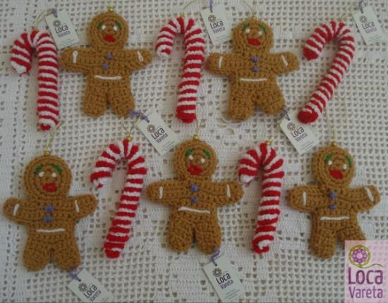 adornos navideños tejidos a crochet  dralon 100% crochet