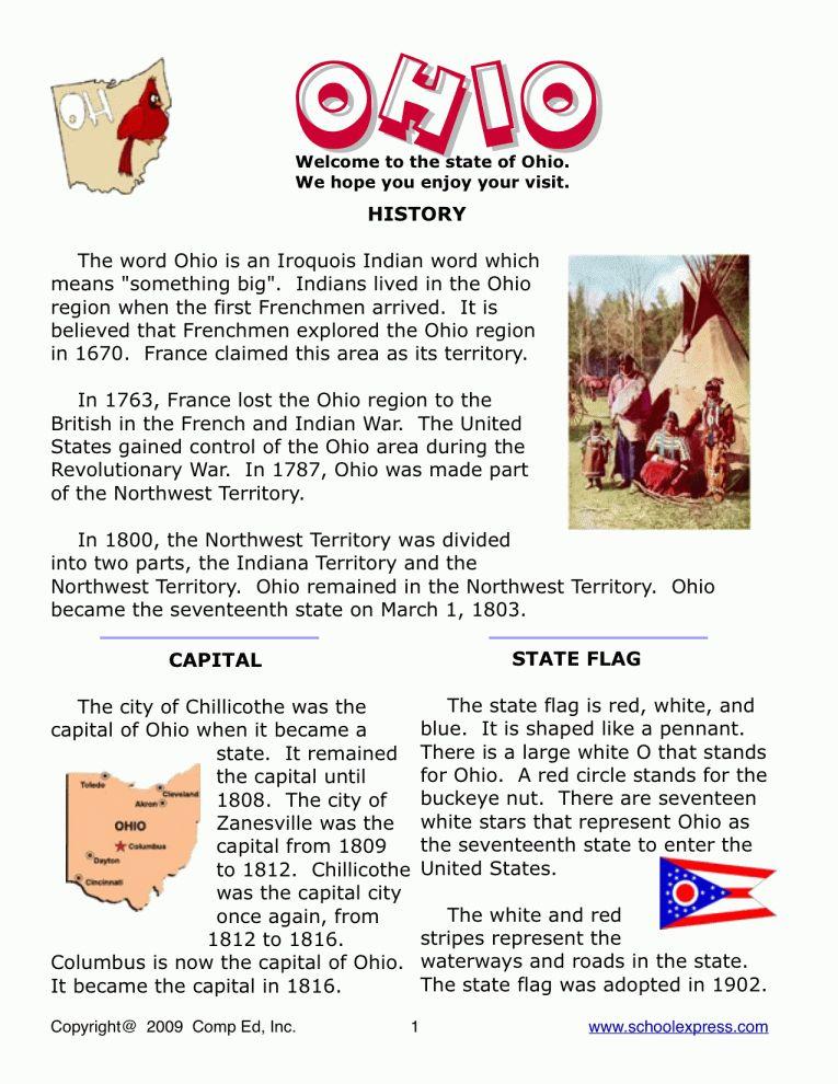 11+ 4Th Grade Ohio Social Studies Worksheets