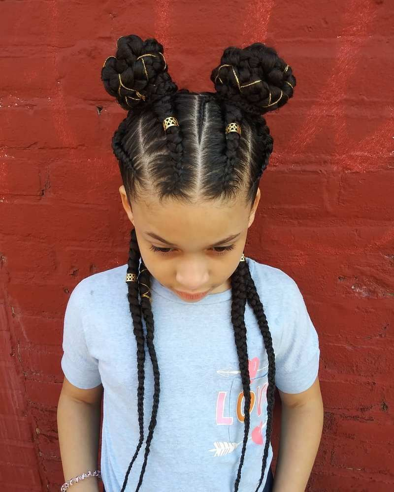 Another Beautiful Braid Hairstyle Is Here For Your Kid S Hair The Styling Pattern Is A Little Bit D Hair Styles Kids Braided Hairstyles Little Girl Hairstyles