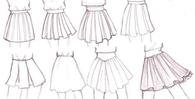 Skirt Drawing Ideas Tutorial De Manga Bocetos Dibujar Ropa Anime