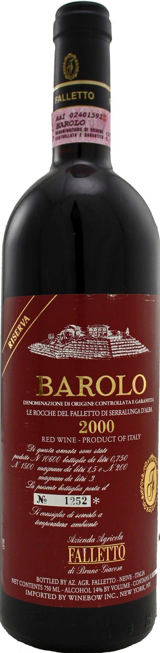 Bruno Giacosa Barolo Riserva Le Rocche Del Falletto Di Serralunga D Alba Wine Case Barolo Wine Inexpensive Wine