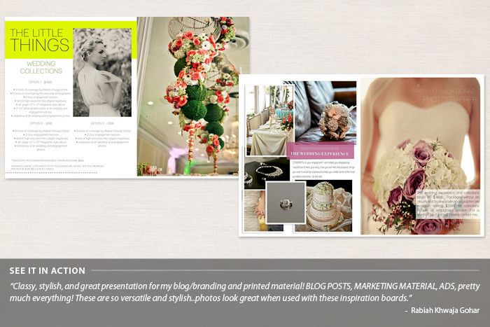 Love the full page images: focuses on your work. Blog & Print Layouts: Magazine Style Series 1