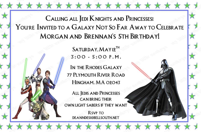 Star Wars Birthday Invitations Free   Star Wars bday   Pinterest ...