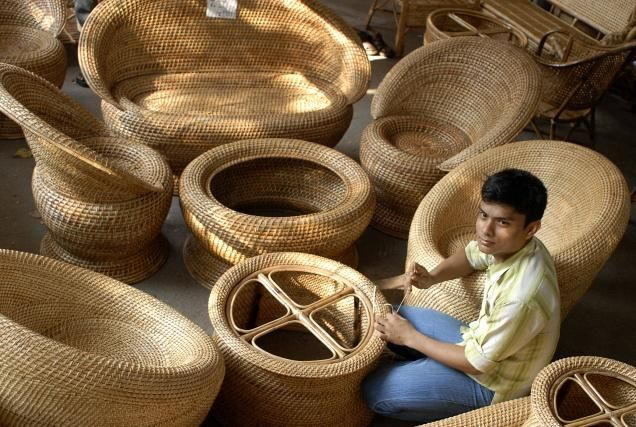 Assam Bamboo Craft North East India Bamboo Furniture