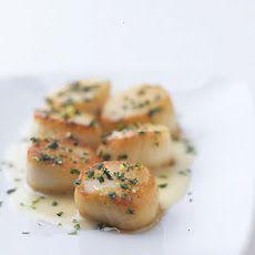 Sea Scallops with Cilantro Gremolata and Ginger Lime Beurre Blanc