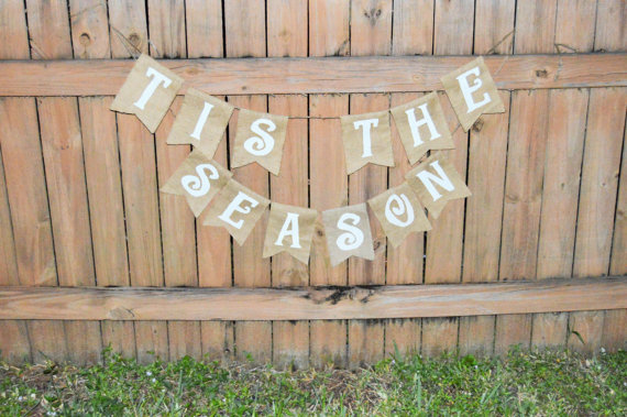 Burlap 'Tis the Season' Banner by TheRusticChicBtqe on Etsy