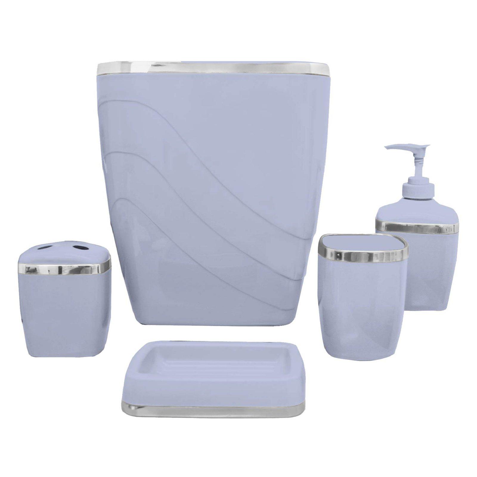 Carnation Home Fashions 5 Piece Bathroom Accessory Set Linen
