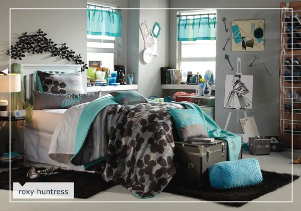 Roxy Huntress from Bed, Bath and Beyond. You can click on every item in the room for more info.   #17college  http://www.bedbathandbeyond.com/Bts01_DecorArticle.asp?DecorId=roxyhuntress#