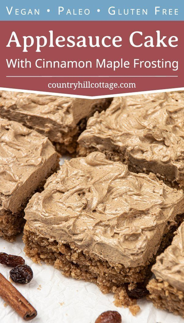 Vegan Applesauce Cake With Cinnamon Maple Frosting Gluten Free