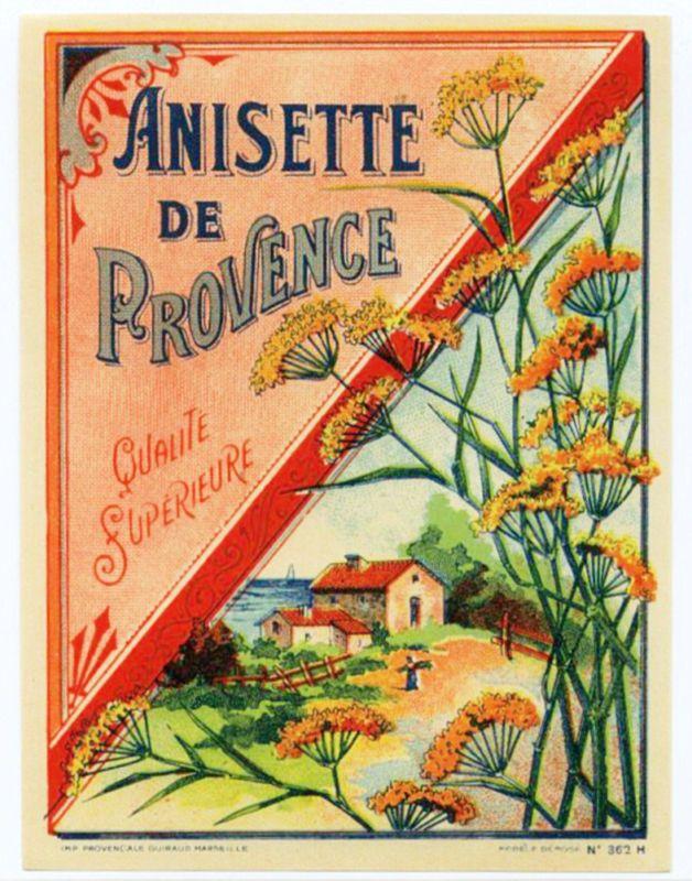 Illustration publicitaire fran aise anisette de for Affiche cuisine retro