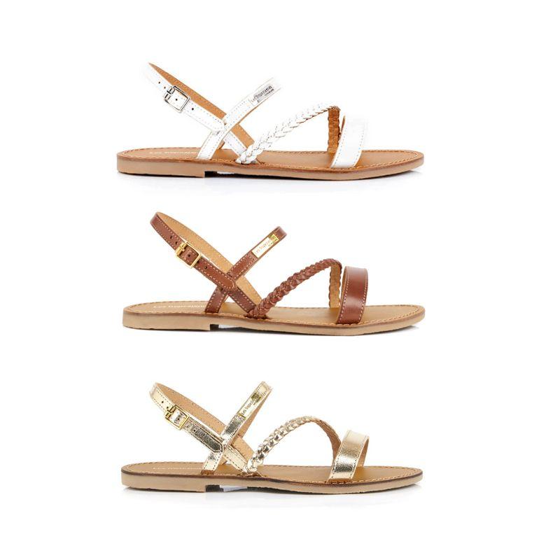 SANDALES Cuir Tressé TROPEZIENNES Batresse | Sandals, Shoes