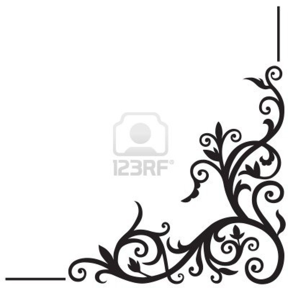Stock Vector Corner Designs Page Decoration Simple Designs