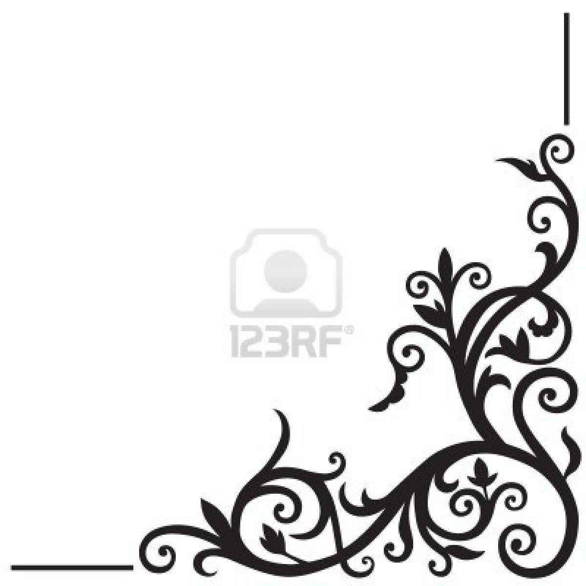 Corner design simple flower designs reception