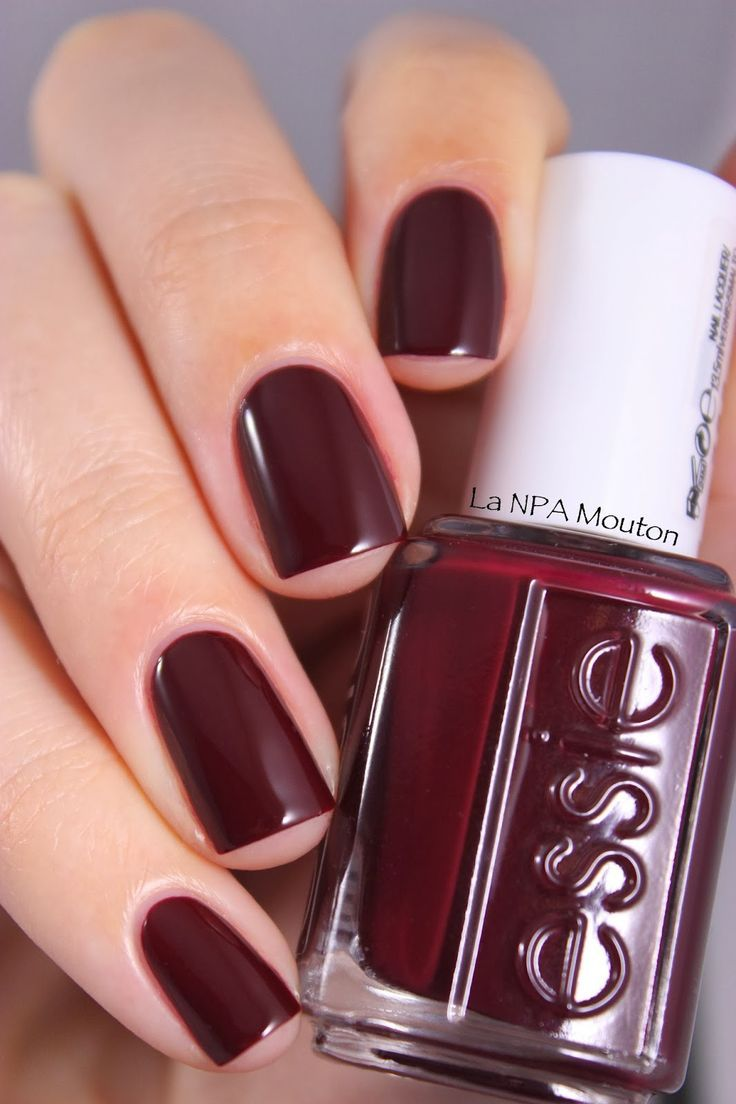 essie burgundy nail polish - Google Search | Nail ideas ...